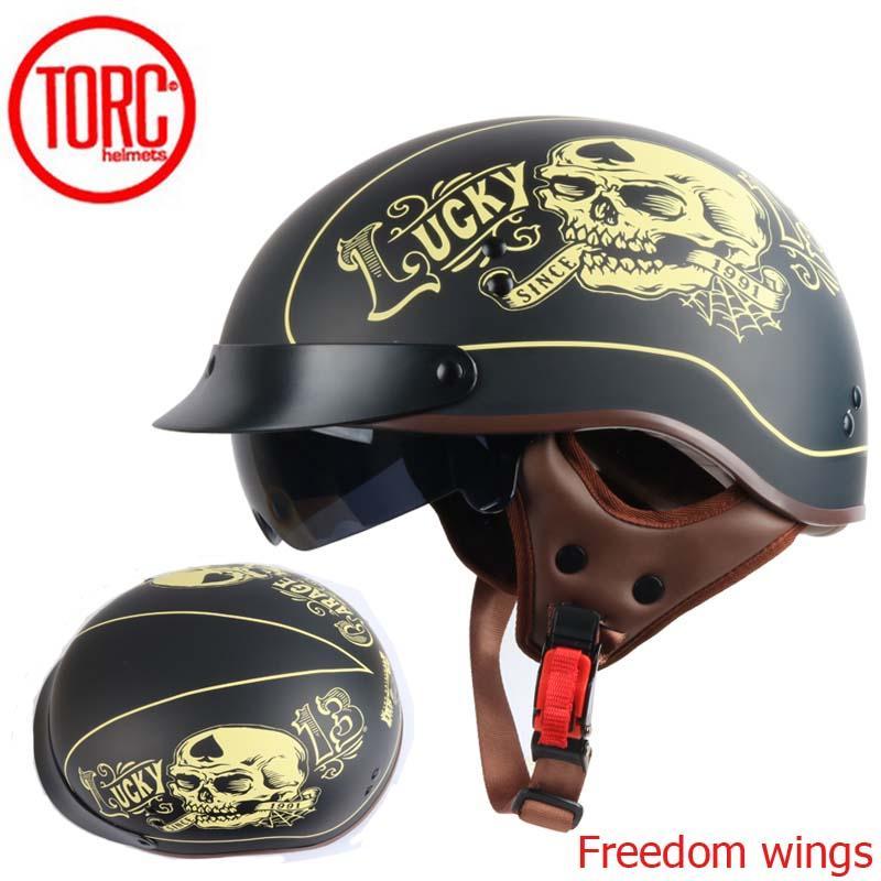 Torc T55 Vintage Motorcycle Helmet Retro Scooter Half Helmet With