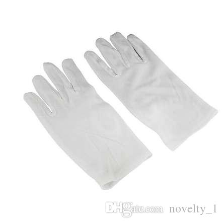 1 Pair Medium Thick White Cotton Polyester Gloves Lab Sanitary Gloves Multipurpose Handling Cleaning Tools Household Gloves