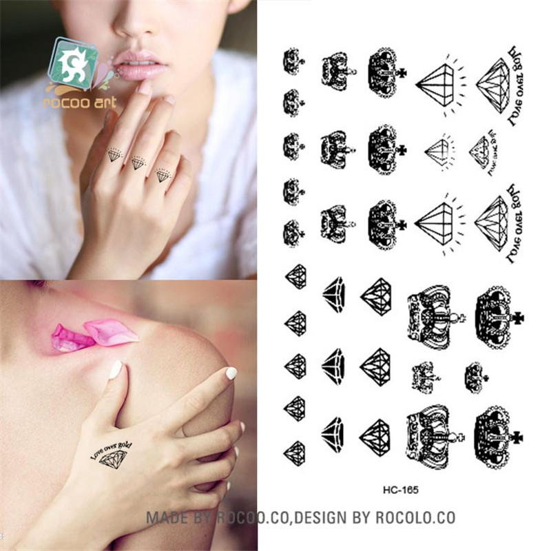 d04e52050 Body Art Waterproof Temporary Tattoos Paper For Men And Women Sex Simple 3D  Crown Design Small Tattoo Sticker Wholesale HC1165 Cheerleading Temporary  ...