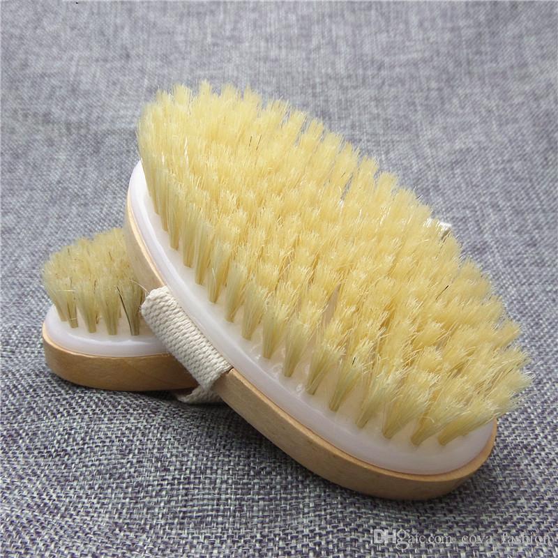 Trockene Haut Körper Weiche Naturborstenbürste Bad Dusche Borstenbürste SPA Körperbürste