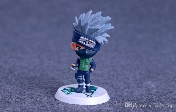 Naruto Figurines Jouets 6 pièces / 7 cm PVC Naruto Kakashi Sasuke Figurines Enfants Jouets Cadeaux LA683