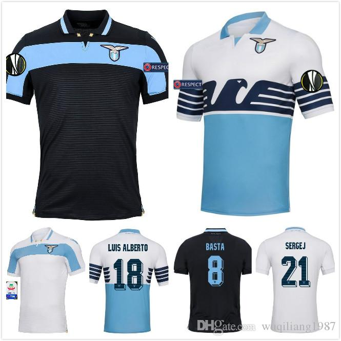 Camisetas De Fútbol Lazio Uniformes De Fútbol F.ANDERSON 2018 2019 En Casa  LUCAS KISHNA BASTA D JORD JEVIC KEITA INMOBILE Camisetas De Fútbol Por ... 4e9705654a172