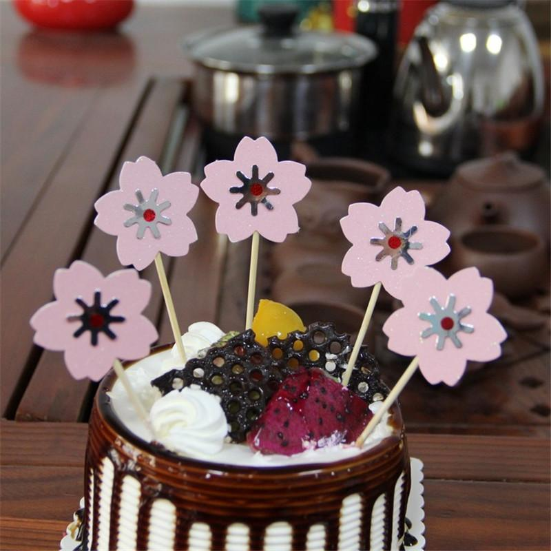 Flower Happy Birthday Cake Toppers Decoration Kids Decorating Pick Pock Flags Tool Party Supplies Online With 292 Piece On Haoxingardens Store