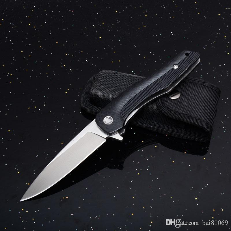 Millennium folding knives Outdoor Multi Tool Knife Hardness 440 Handle Wood  Outdoor Jungle Tactics G10 Gift Knife 1pcs