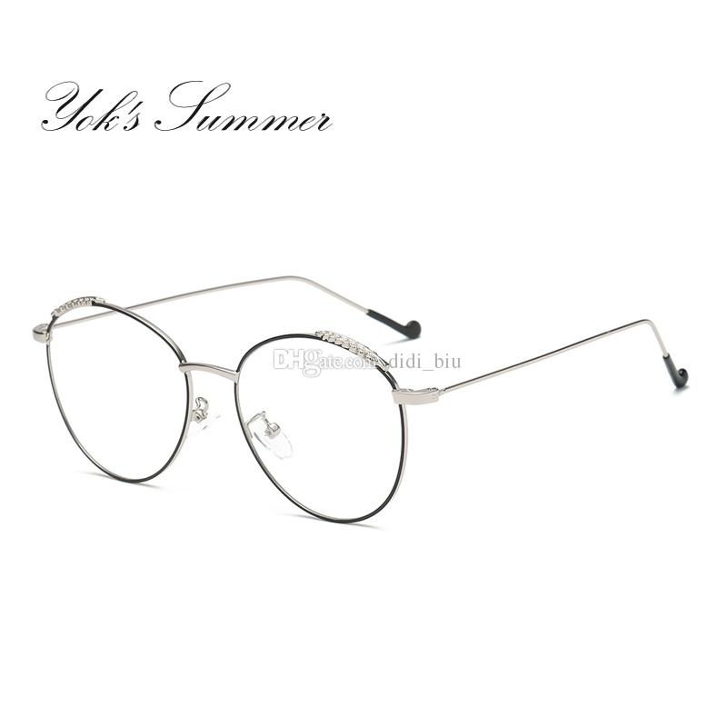 e771f8e696a Yok s Summer Anti Blue Ray Computer Gaming Glasses Women Round ...