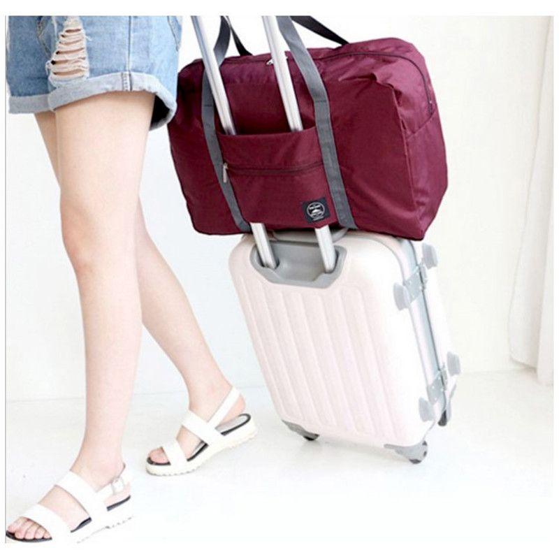 43e04ef0df04 2018 Organizer Packing Cubes Luggage Girl Weekend Bag Waterproof Women Men  Large Capacity Nylon Travel Bags Folding Duffle Bag