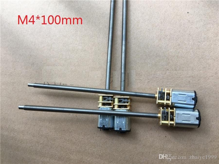 N20 M4*100mm Great Screw Gear Motor Micro Thread Motor DIY Miniature DC Motor With 100mm Length Shaft