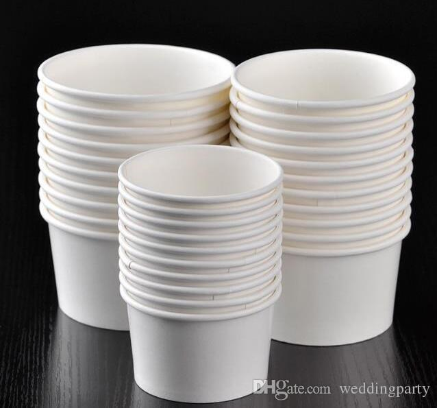 White Paper Cup United Artists Disposable Cups Ice Porridge Cream Bowl Without Cover For Sale No Peculiar Smell