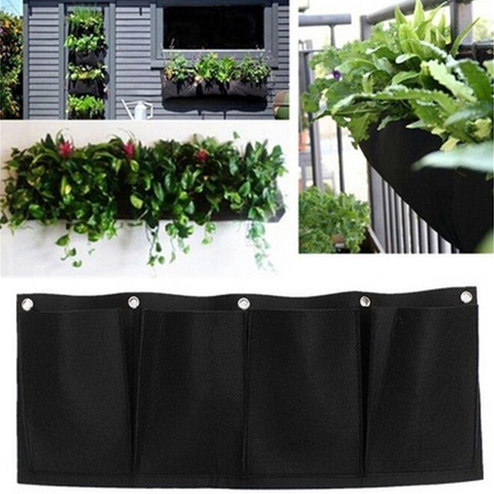 Ordinaire Horizontal 4 Pockets Garden Planter Wall Mounted Polyester Home Gardening  Flower Planting Bags Living Indoor Wall Planter Decorative Bird Cages  Decorative ...
