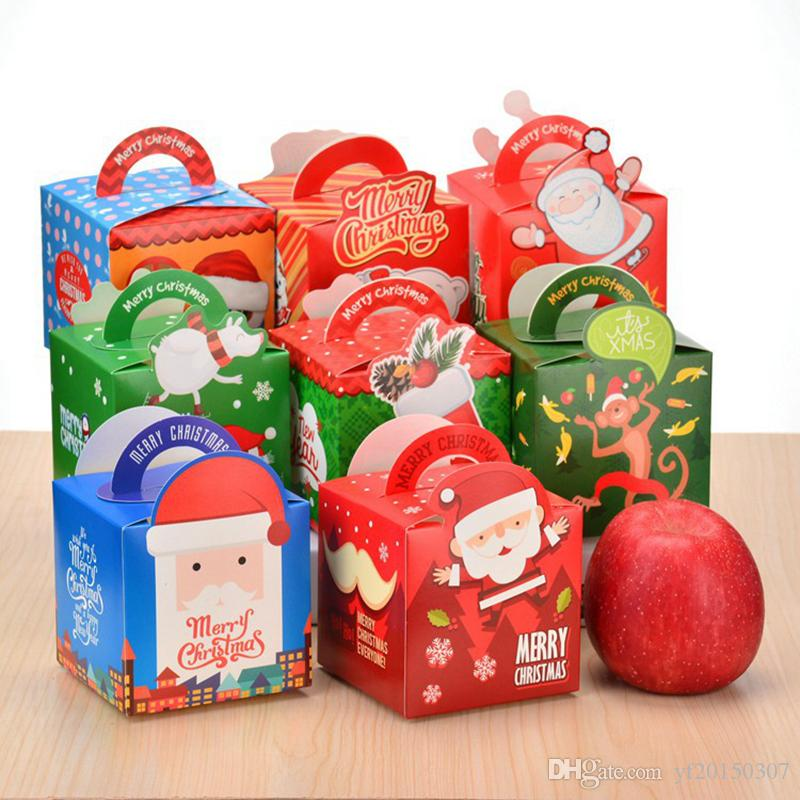christmas apple boxes christmas gift paper boxes xmas apple candy