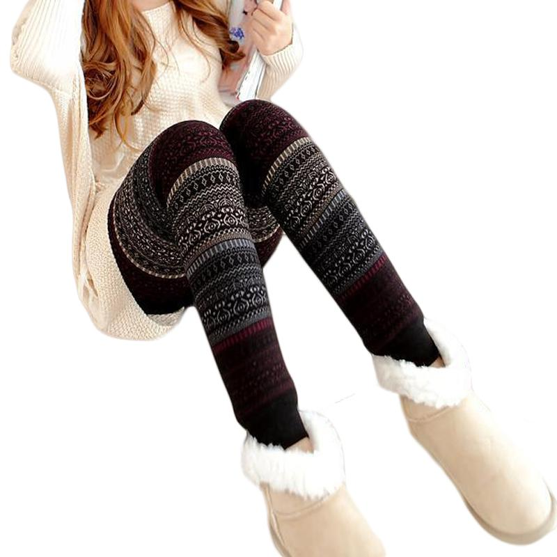 b9f6a3ee2519b 2019 New 2017 Girls Christmas Winter Thick Warm Leggings For Women Black  Fitness Punk Velvet Fleece Lined Leggings CM1856 From Jst2015, $27.52 |  DHgate.Com