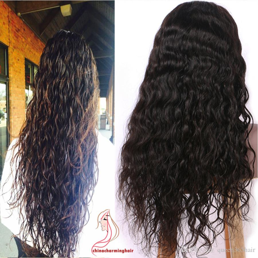 Full Lace Human Hair Wigs For Black Women Brazilian Virgin Hair Lace Front Wigs With Baby Hair Full lace wet and wavy Wig