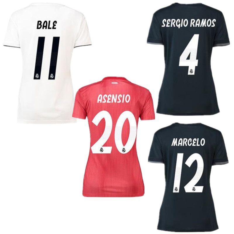 Mujeres ISCO Real Madrid Camisetas Blancas De Fútbol 18 19 Camisetas De  Fútbol De Real Madrid Para Chicas 2019 ASENSIO Vinicius Lady Tercera Roja  Uniformes ... b11344b4a5cbd