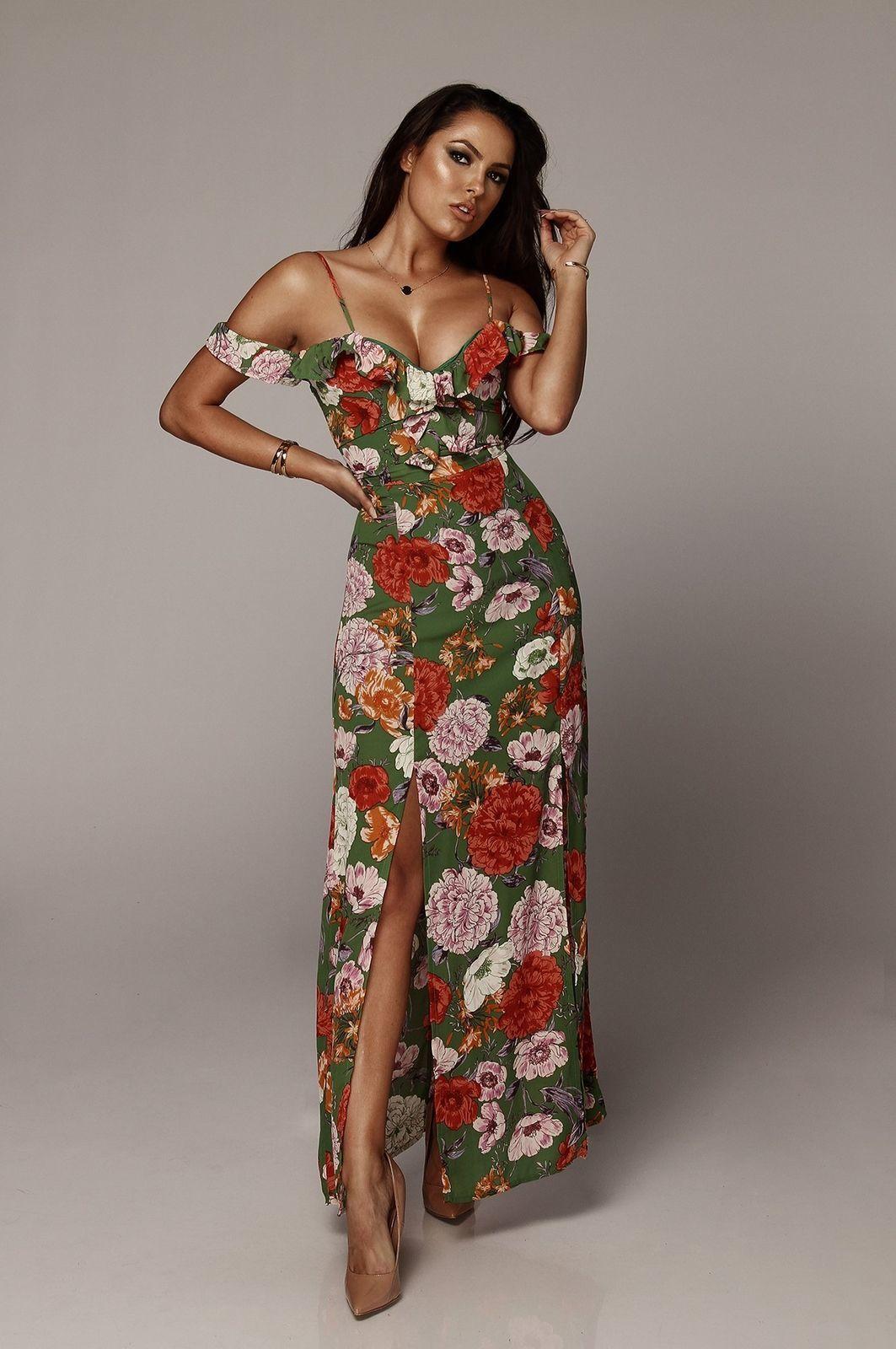 eb68493f9a Sexy Women Long Formal Maxi Dress Evening Prom Party Dress Irregular  Ruffles Floral Print Strapless Dresses 2018 Summer Style Semi Formal Dress  Short Black ...