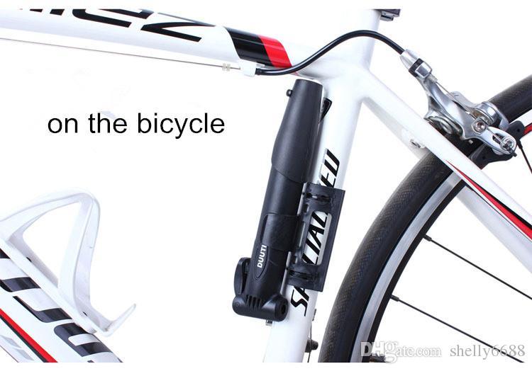 Bisiklet Pompası Yüksek Basınçlı El Mini Pompa Hortum Hava Şişirme Schrader Bisiklet Fietspomp Şok Çatal Lastik Bisiklet Pompası