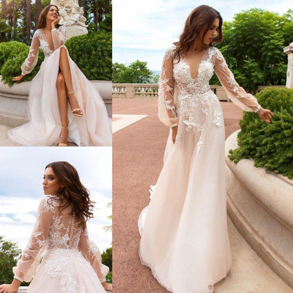 Garden Wedding Gowns: Cheap Bohemian Country Garden Wedding Dresses Plugging Top