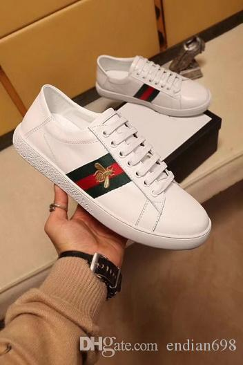 new Embroidered small white bee small white shoes female summer genuine leather flower star pearl flat belt men women shoes cheap buy view sale online BVCEAZrCS