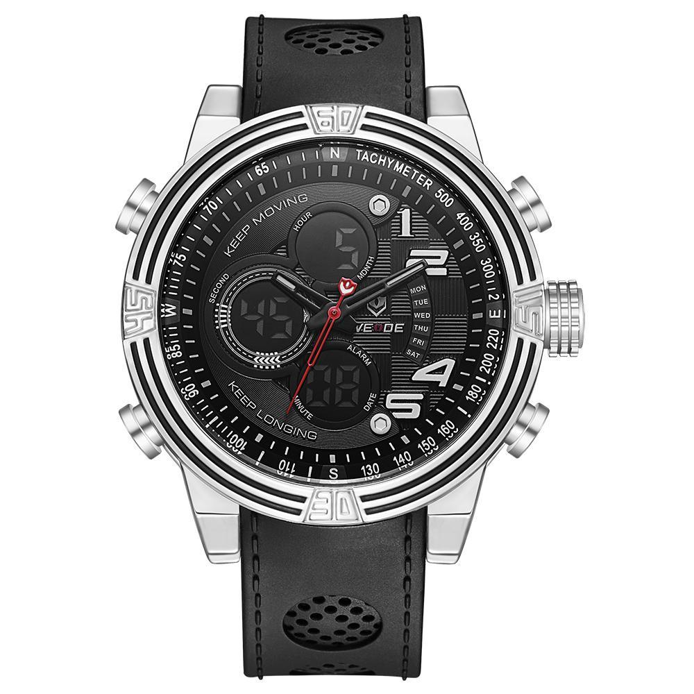d967af228ec8 Compre Top Venta De Moda WEIDE Cronómetro Impermeable Reloj Deportivo Reloj  De Cuarzo Digital Hombres LED Reloj De Pulsera De Tiempo Múltiple Relogios  ...