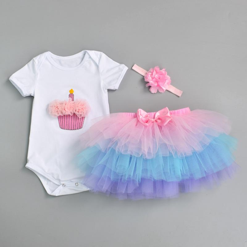 f40776219 2019 Newborn 2018 Flower Party Clothes Set Baby Girl One Years First  Birthday Tutu Outfits For Girls Tulle Toddler Baby Clothing Suit Y18102207  From Gou07, ...