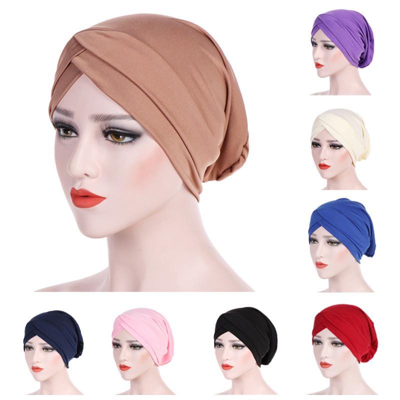 869e4f62425 Feitong Women Cap Muslim Ruffle Cancer Chemo Hat Beanie Scarf Turban ...