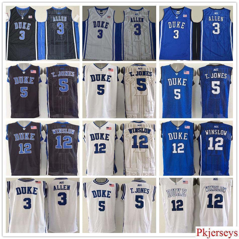 7e2686a041d ... reduced duke blue devils college mens 3 grayson allen jersey blue 5  tyus jones black 12
