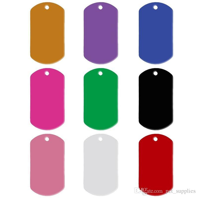 43ff1126e796 Aluminum Pet ID Tag Rectangle Shape Engraved ID Cat Dog Charm Double Sided  Name Address Phone Pet Tags Service Dog Id Card Therapy Dog Id Card From ...