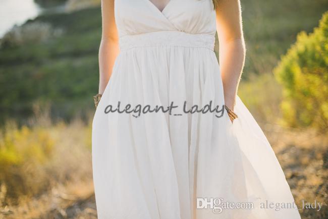 Mutterschaft Brautkleider Sexy Plus Size Spaghettiträger Perlen Elfenbein Taft Country Style Empire Brautkleider