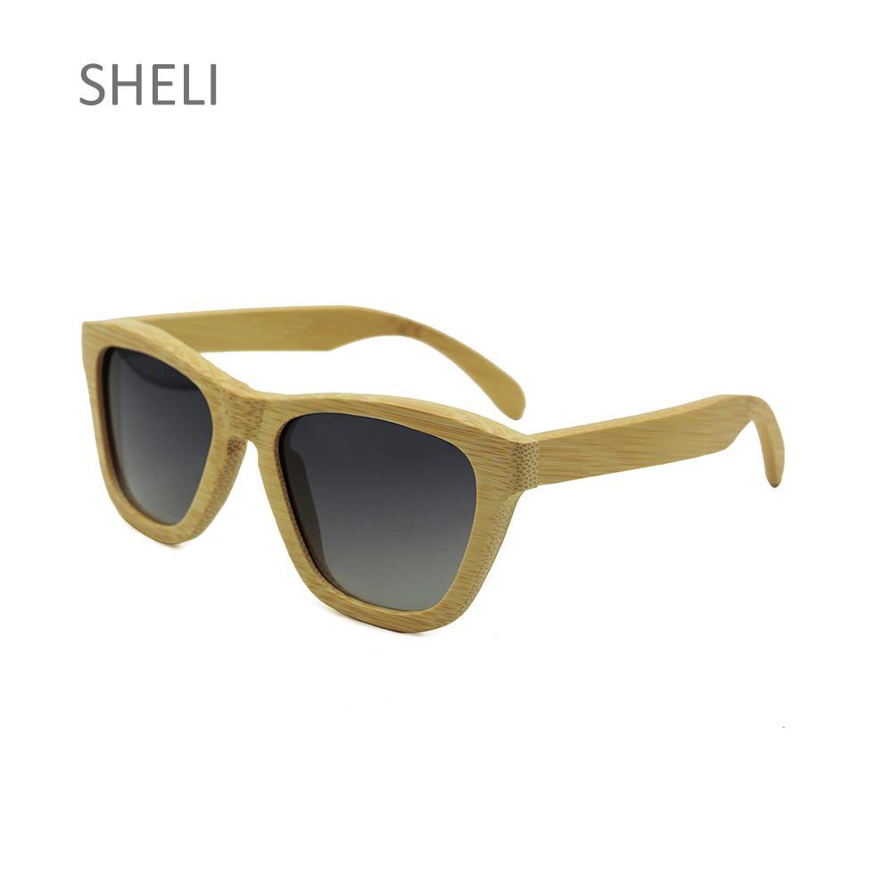 Compre Gafas De Sol De Bambú De La Vendimia De Los Hombres Vidrios De  Conducción Polarizados Para Las Mujeres Del Diseñador De La Marca Oculos De  Sol A ... 92ae3b2246a2