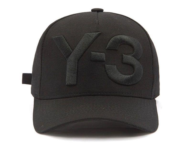 2018 New Y-3 Dad Hat Big Bold Embroidered Logo Baseball Caps ... 358f18f621f