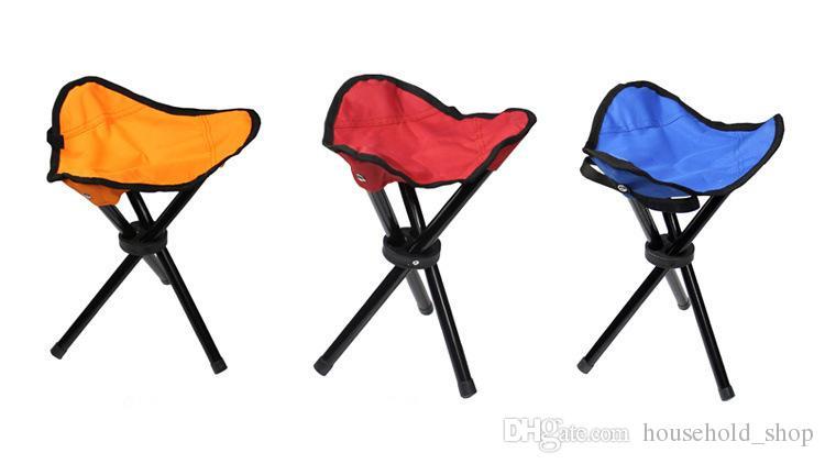 Hot Sale 2018 Outdoor Triangular Folding Stool Convenient Fishing Stool Folding Stool Triangulation Chair Strong Bearing Capacity