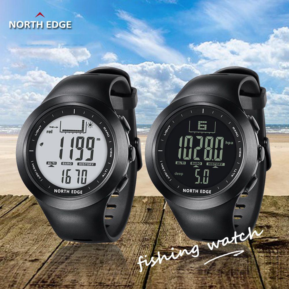 89a39046a2a Compre NORTH EDGE 100 M À Prova D  Água Esporte Dos Homens Digital Relógio  Inteligente Pesca Em Execução Altímetro Barômetro Bússola Termômetro Relógio  ...