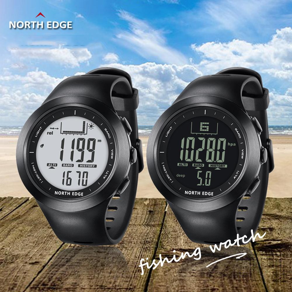 1b65f74e2077 Compre NORTH EDGE 100M Impermeable Para Hombre Deporte Reloj Inteligente  Digital Running Fishing Altímetro Barómetro Brújula Termómetro Reloj  Meteorológico ...