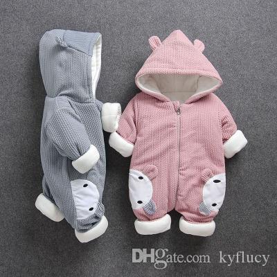 addd49a48 winter with baby romper suit with thick cotton-padded clothes men and women  winter baby clothes go climb clothes 0 and 1 year old