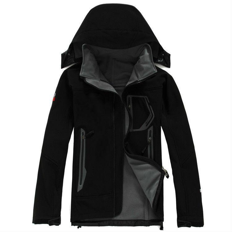가을 - 무료 배송 남자 겨울 SoftShell 자켓 실외 방수 windproof 군사 의류 남자 겨울 코트
