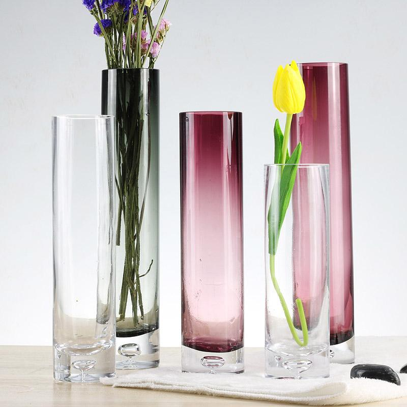 Colorful Glass Flower Vase Tabletop Vases For Home Wedding