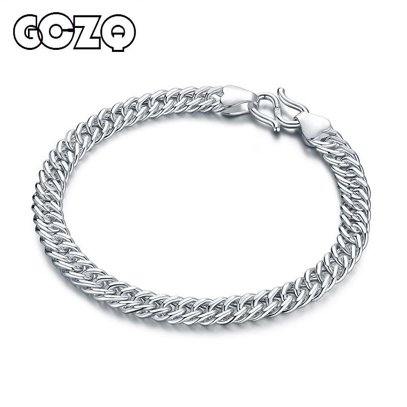 3c210a1ea559 GCZQ 990 hombres de plata pulsera de plata esterlina pulsera de cadena de  la cadena cubana Regalos de la joyería del partido