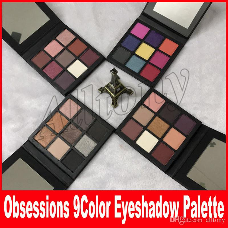 NEW obsessions matte Eye Shadow Palette 9 color Beauty eyeshadow palettes Makeup smokey mauve electric warm brown