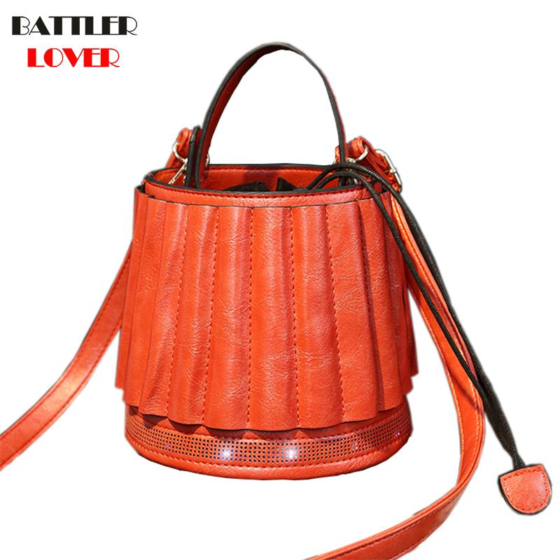 99422af72caf 2018 New Chic Bag Lantern Shape Messenger Bag Glow Bucket Handbags Womens  Drawstring Crossbody Bags For Girls Mujer Purses Retro Best Messenger Bags  ...
