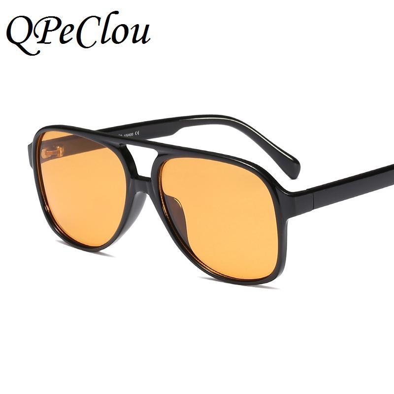 9909ecaaefc6 QPeClou Big Frame Sunglasses Women Brand Pilot Gradient Sun Glasses ...