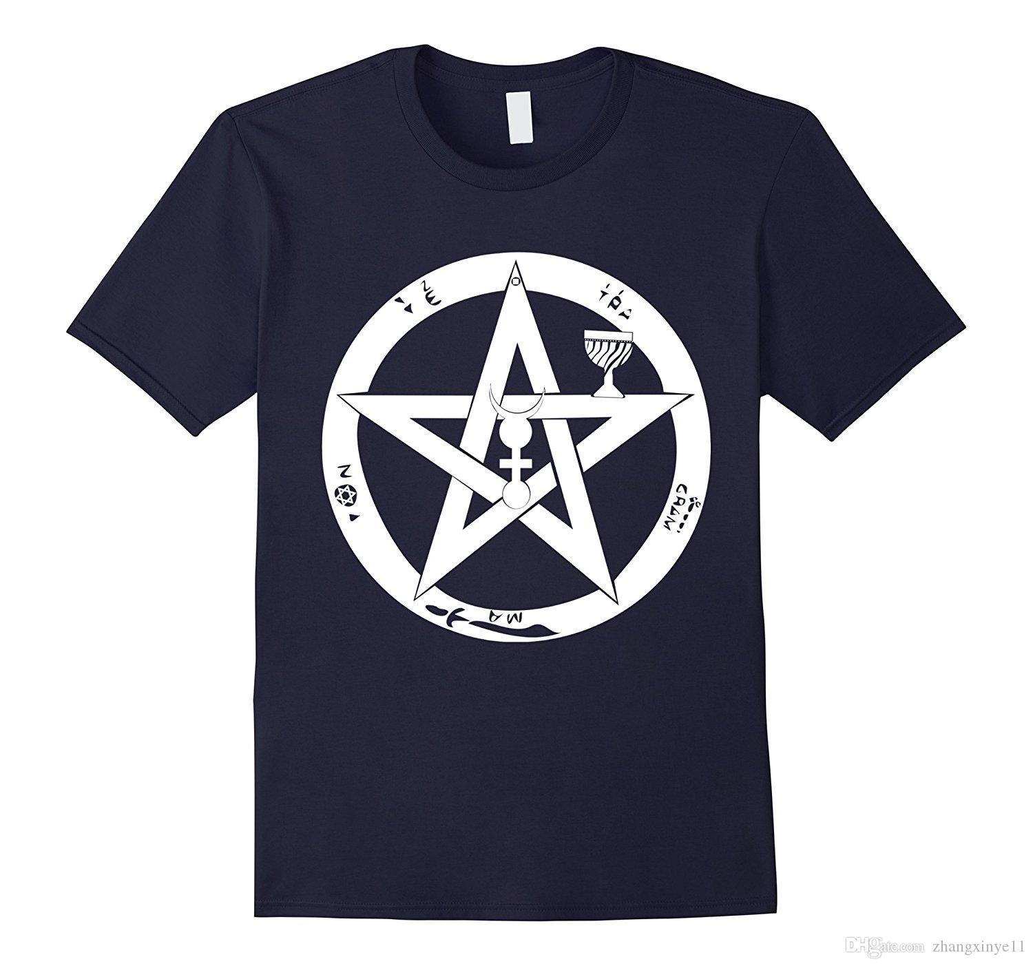 Wicca Protection Symbol T Shirt Wiccan Pentagram Pagan Tee The T