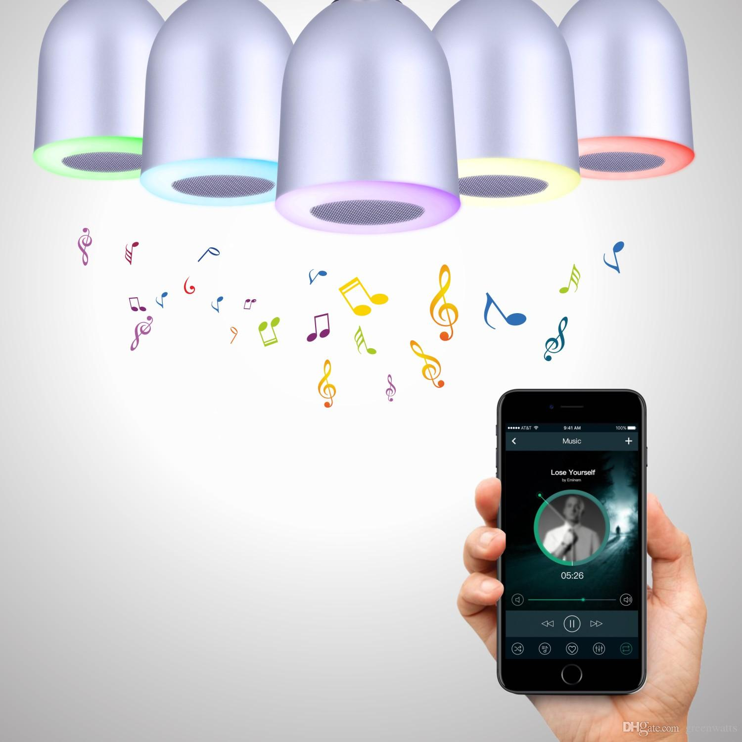 Color music by hands on LEDs