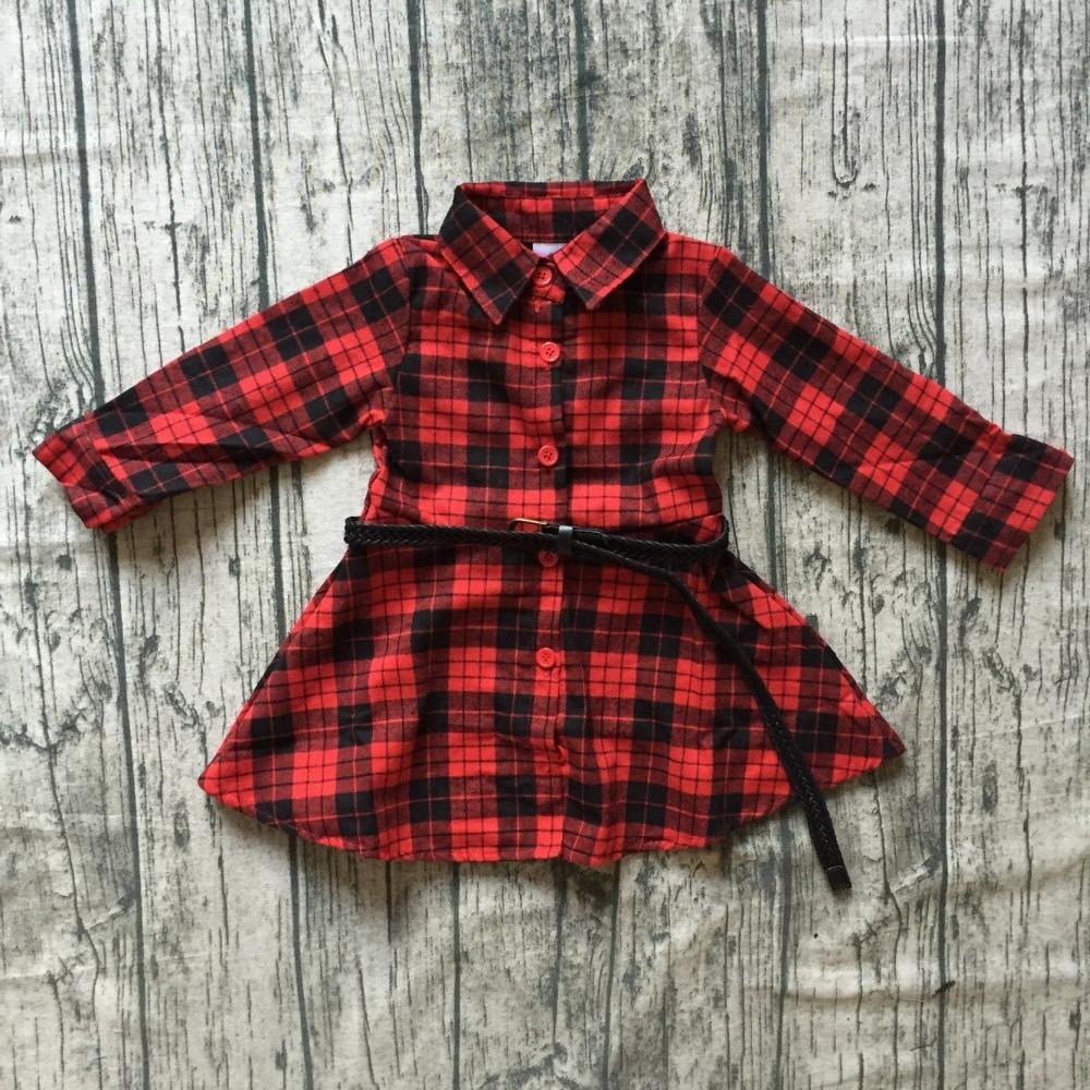 8dbec6b394ab New Christmas Fall winter Baby Girls Clothes Children Red Black ...