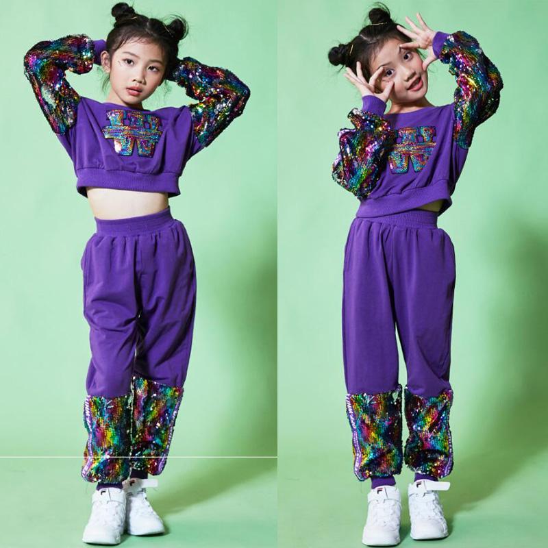 Costumi Da Danza Bambini Abbigliamento Bambini Hip Hop Stage Costumi  L u0027abbigliamento Da Ballo Set Top + Pantaloni Abiti A  53.28 Dal Sikaku  ... 272024e5c930