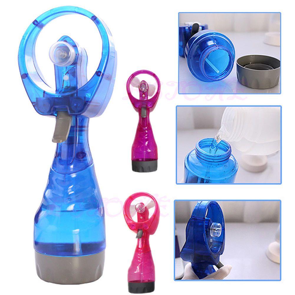 EMS su Sprey şişe Fan ile plastik su şişesi ile misting fan ile Soğutma Fanı Spor Seyahat Plaj Kampı