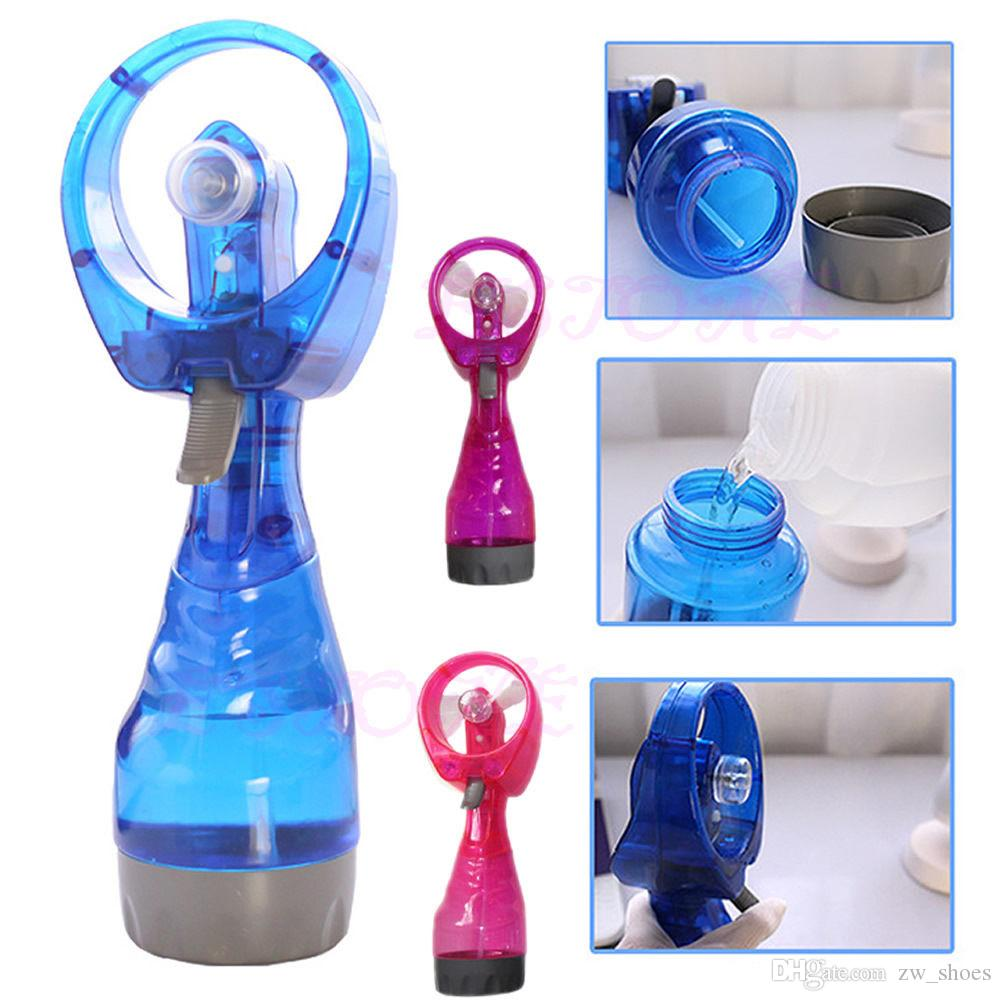 Yeni Su Sprey şişe El Fanı ile Taşınabilir Soğutma Suyu Misting Fan şişe Pil Kumandalı DHL NAKLIYE