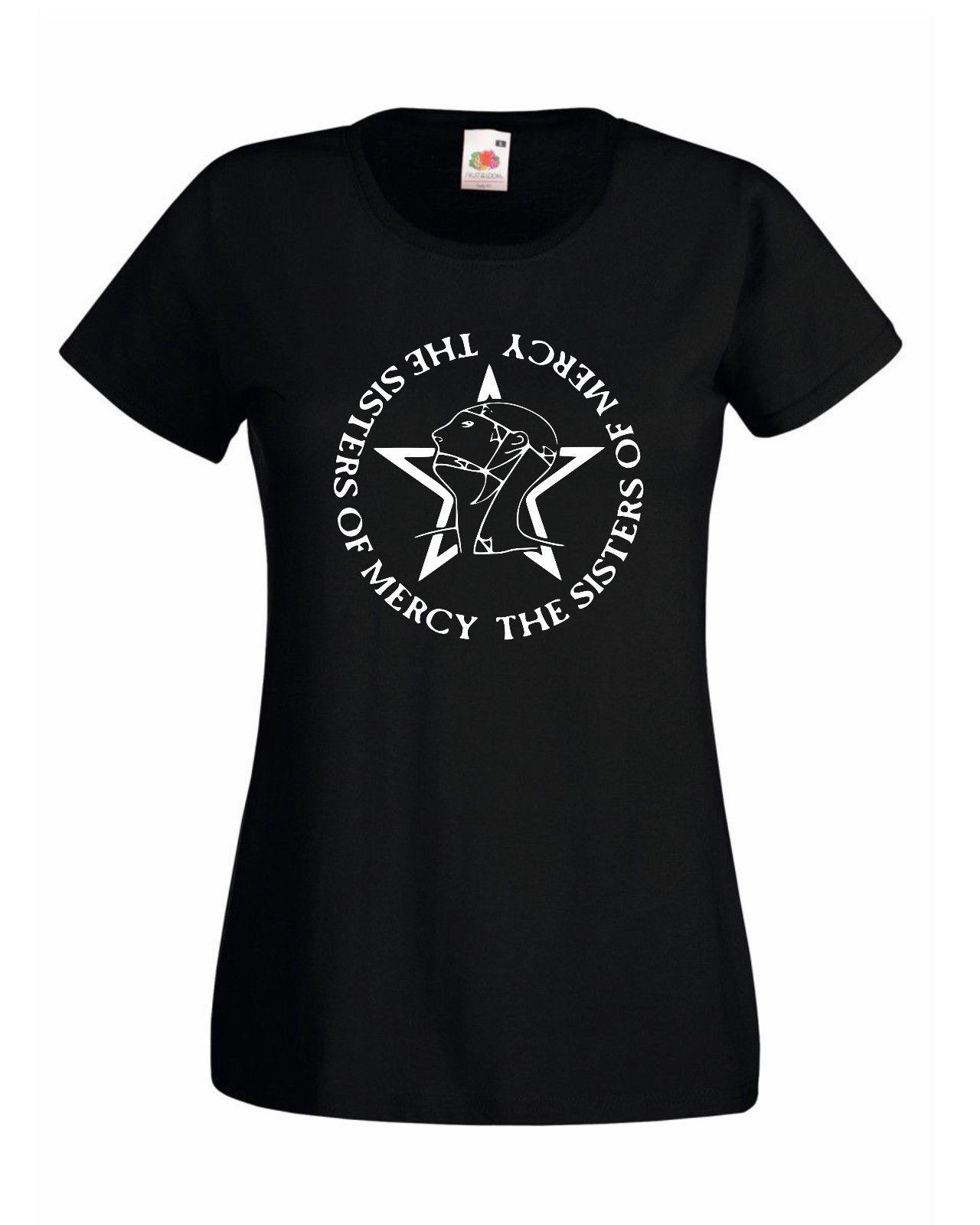 The Sisters Of Mercy Logo Female Fit T Shirt Rock Goth Free