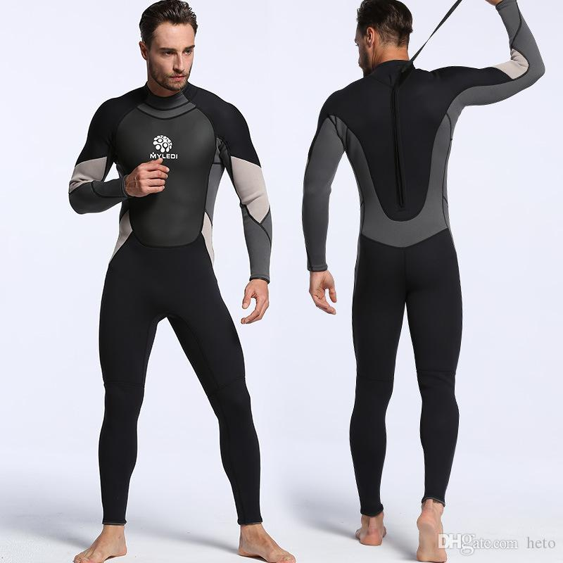 fa08a2b9317f6 2019 New Neoprene 3mm One Piece Diving Suit Waterproof Clothing Warm Wetsuit  Surfing Suit Men S Diving Full Body Swimwear Suit UV Protection Surf From  Heto