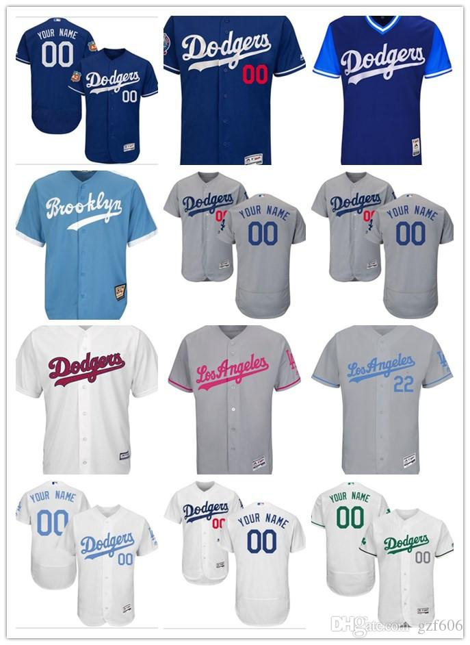2019 Custom Men S Women Youth Majestic Los Angeles Dodgers Jersey  Personalized Name And Number Blue Grey White Kids Girls Baseball Jerseys  From Gzf606 62e353342a3
