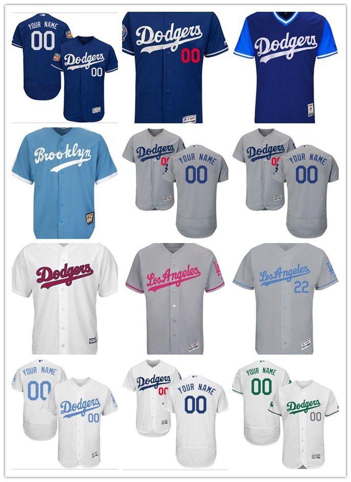 Custom Men s Women Youth Majestic Los Angeles Dodgers Jersey ... e138d17167