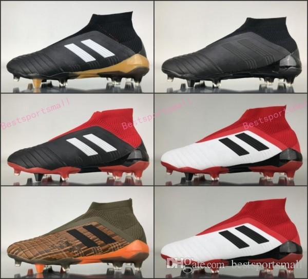 0e8c3bf67 Predator 18+ 18.1 FG Soccer Cleats Chaussures De Football Boots Mens High  Top Soccer Shoes Predator 18 Cheap New Hot